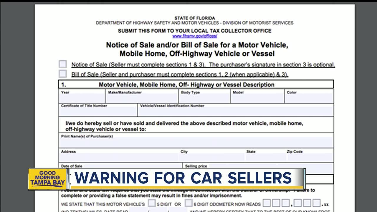 Selling your car? The steps to take in Florida before