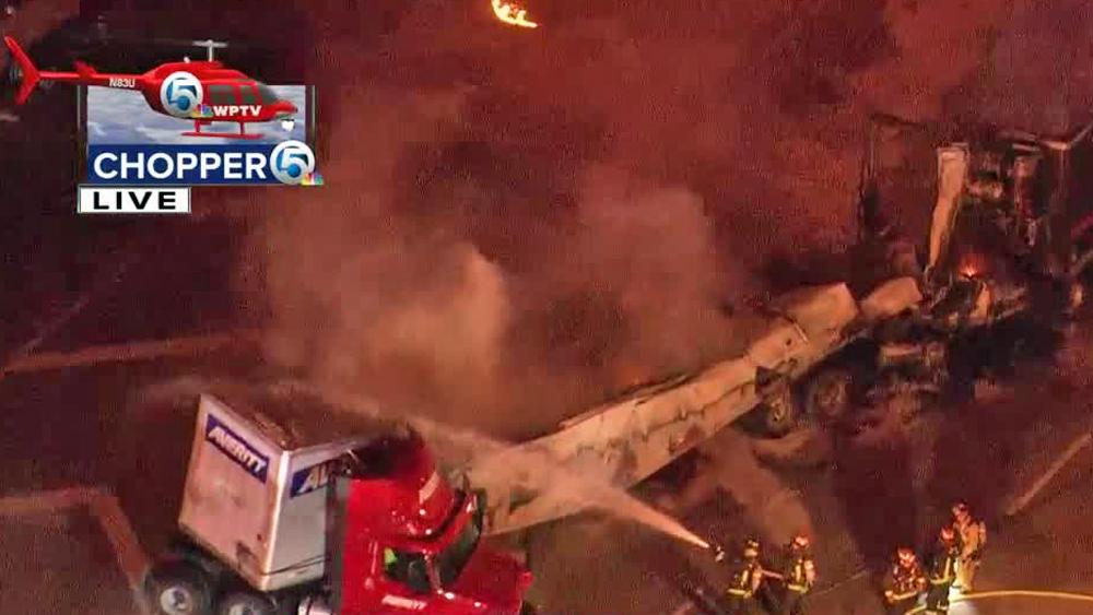 FHP identifies semi truck driver killed in fiery crash on I