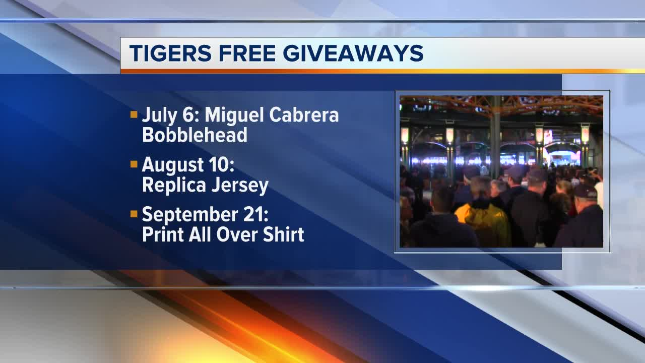 Detroit Tigers announce 2019 promo giveaway schedule