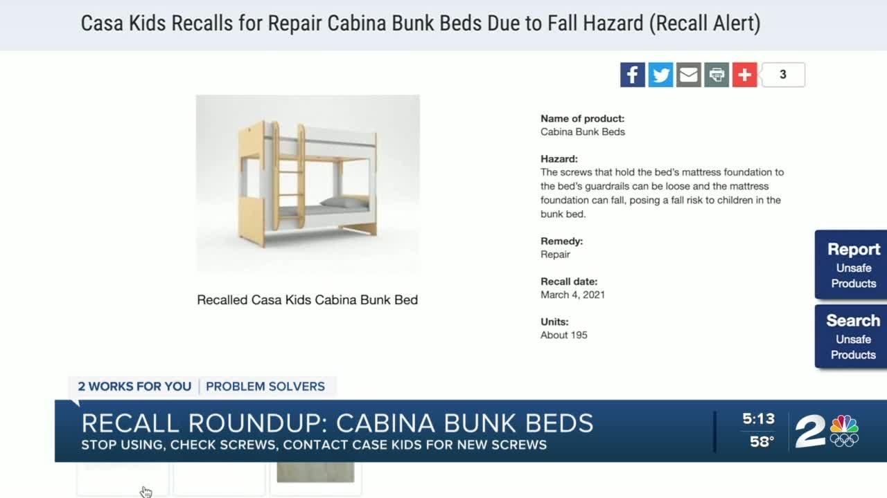 Bunk Beds Top The Recall Roundup