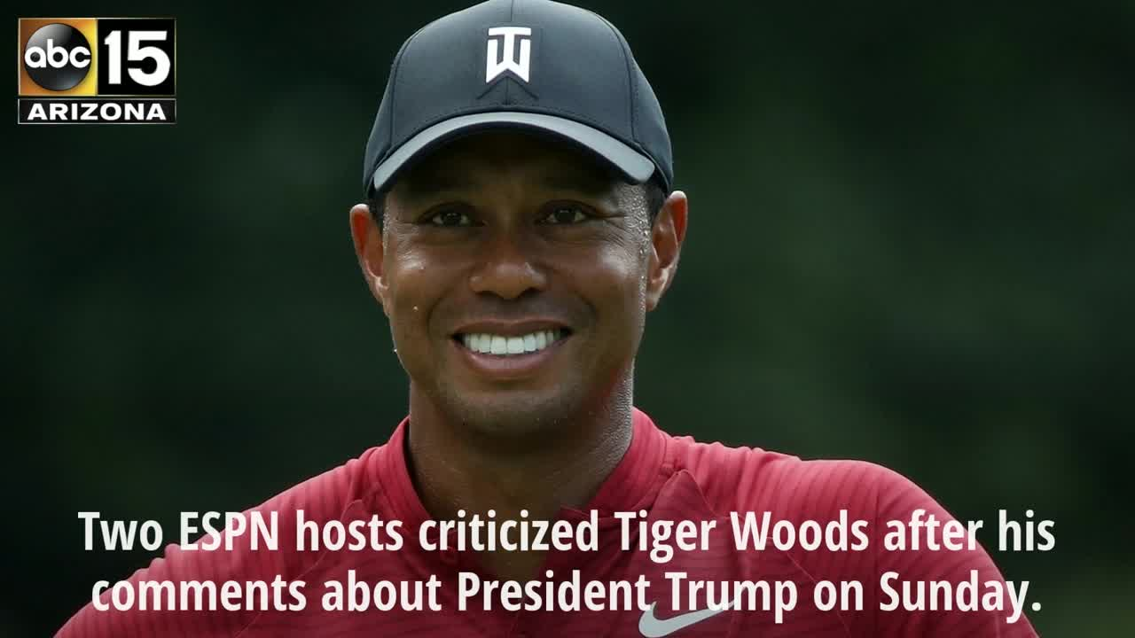 ESPN hosts criticize Tiger Woods after his comments about