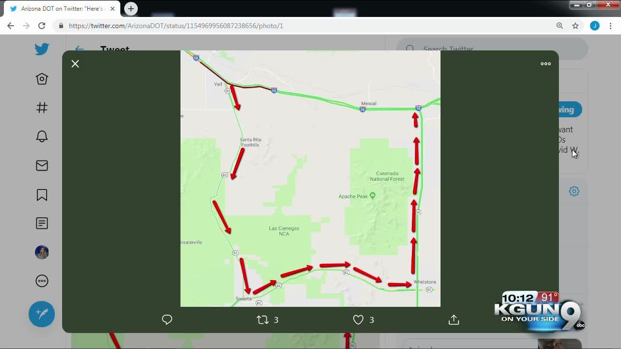 ADOT: Multiple crashes close freeway EB I-10 east of Tucson on map of blythe arizona, map of loop 101 arizona, map of mobile arizona, map of arizona arizona, map of i-40 arizona, map of phoenix arizona, map of tucson arizona, map of loop 202 arizona,
