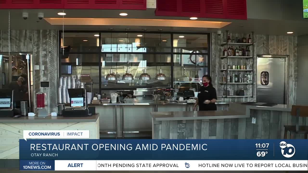 New Otay Ranch restaurant opening amid pandemic