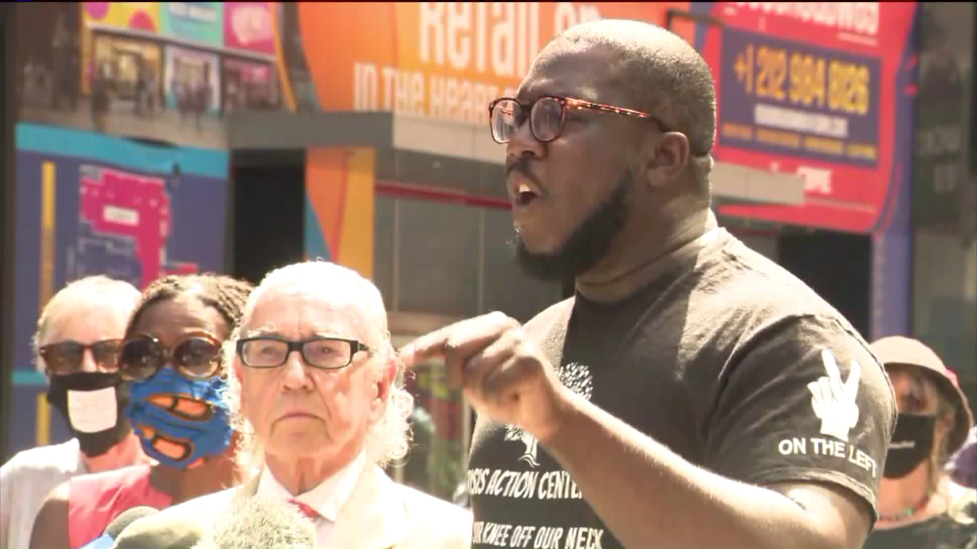 Auto drives through Black Lives Matter crowd in Times Square