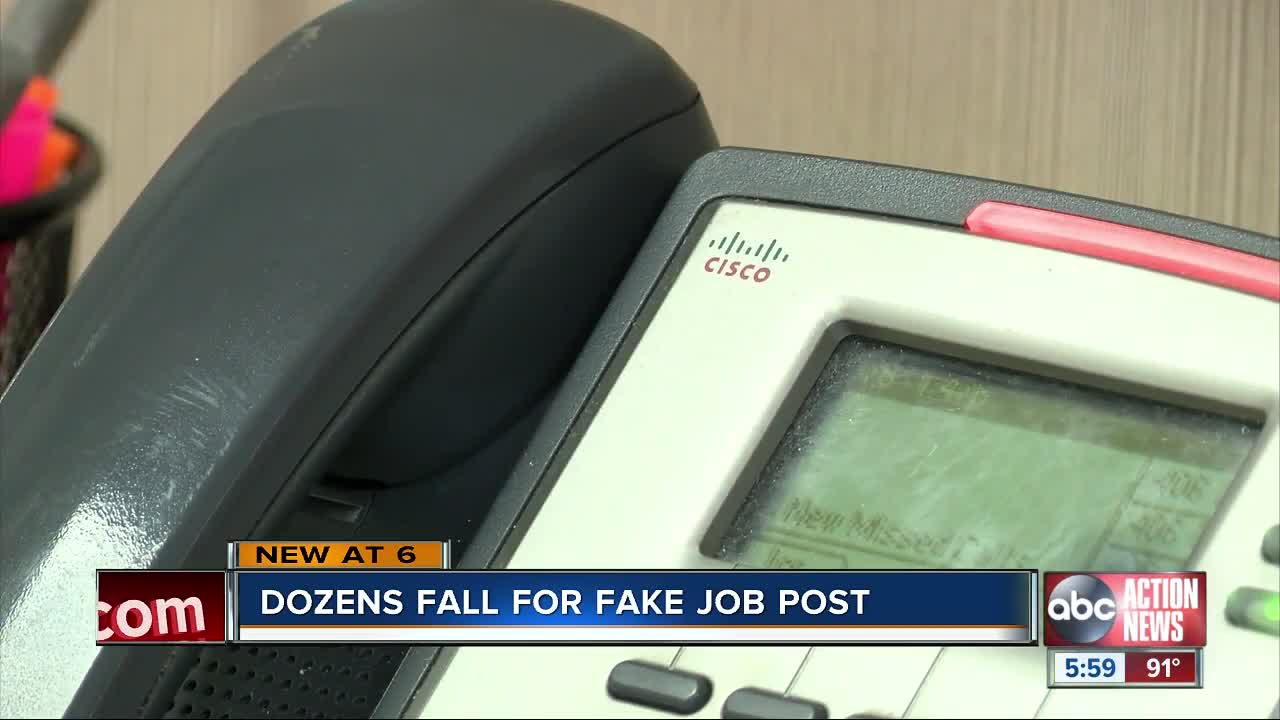 Dozens duped in Tampa Bay area job scam