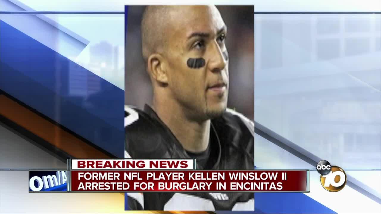 Former NFL player Kellen Winslow Jr  arrested for burglary