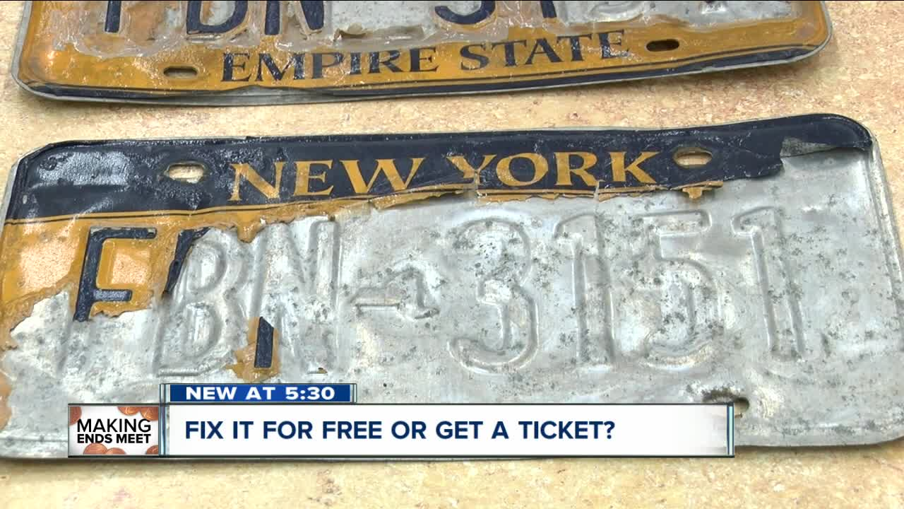Replace your peeling New York State license plates for free