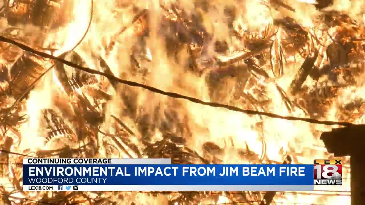 Fire that torched 45K Jim Beam whiskey barrels still burns in Kentucky