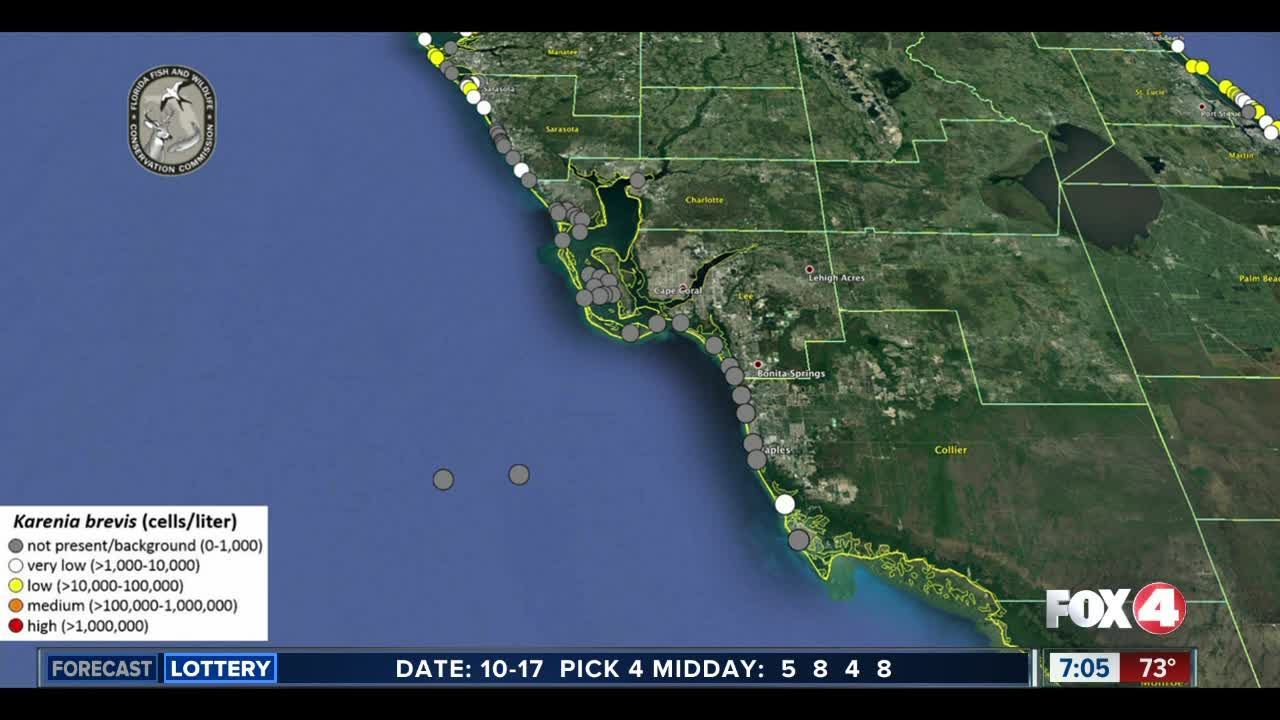 Map Of Gulf Coast Of Florida.Red Tide Maps Show Few Spots In Southwest Florida
