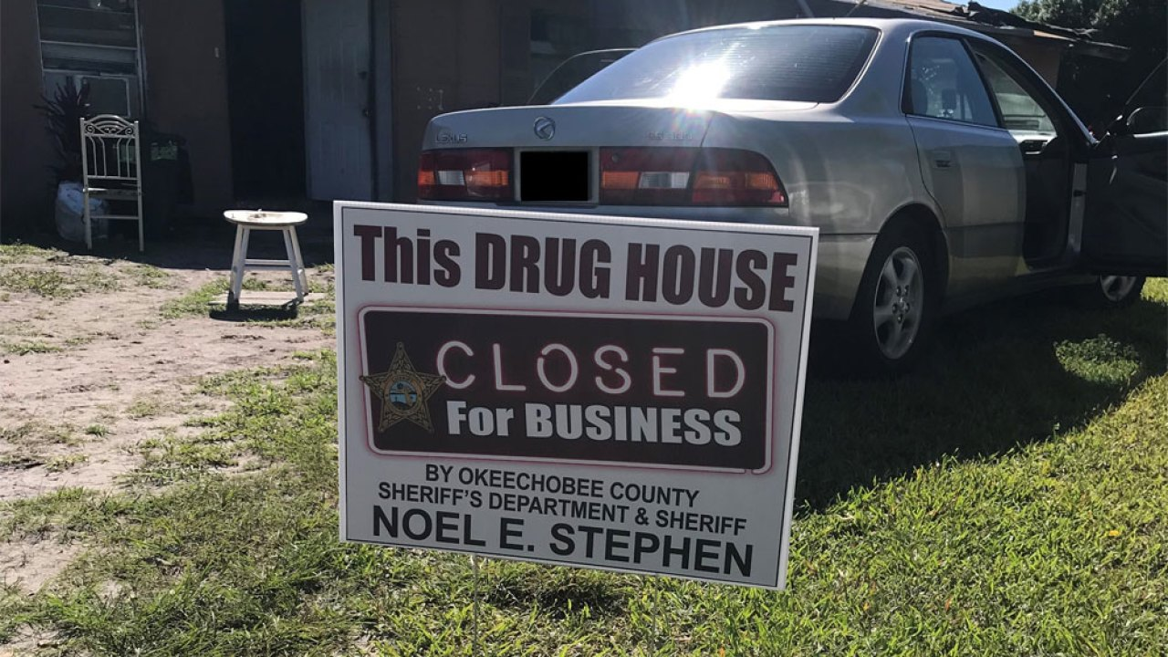 Drug house declared 'closed for business' in Okeechobee