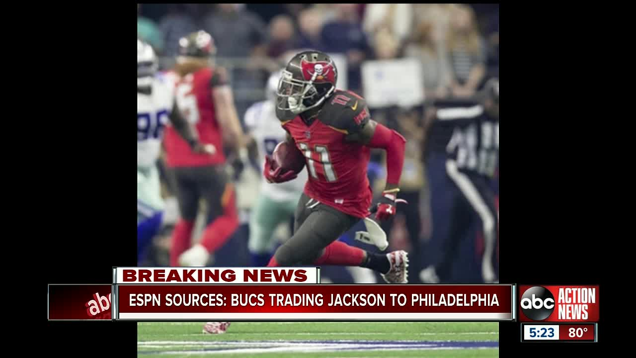 The Tampa Bay Buccaneers have traded De Sean Jackson to the Philadelphia Eagles NFL Network's Mike Garafolo reports