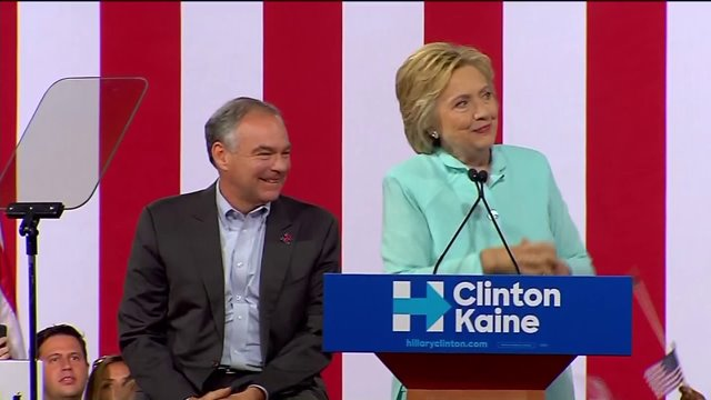 Hillary Clinton and Tim Kaine: We Wont Insult Donald
