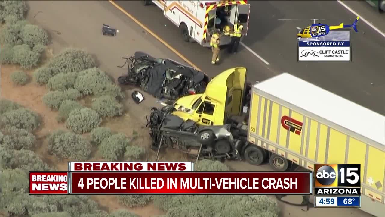 Four people killed, four more injured in I-10 crash south of