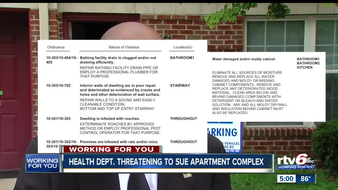 Health department threatening to sue an Indianapolis
