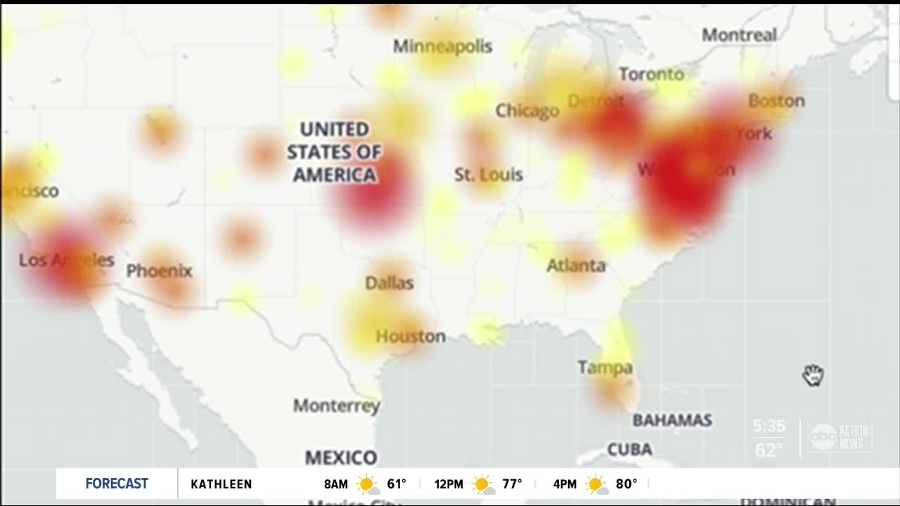 Verizon customers experiencing outage across US