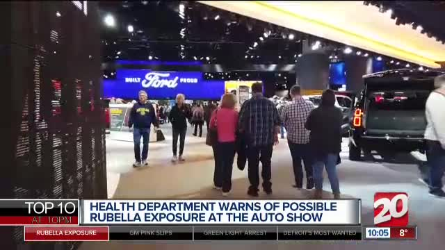 Detroit auto show attendee diagnosed with rubella