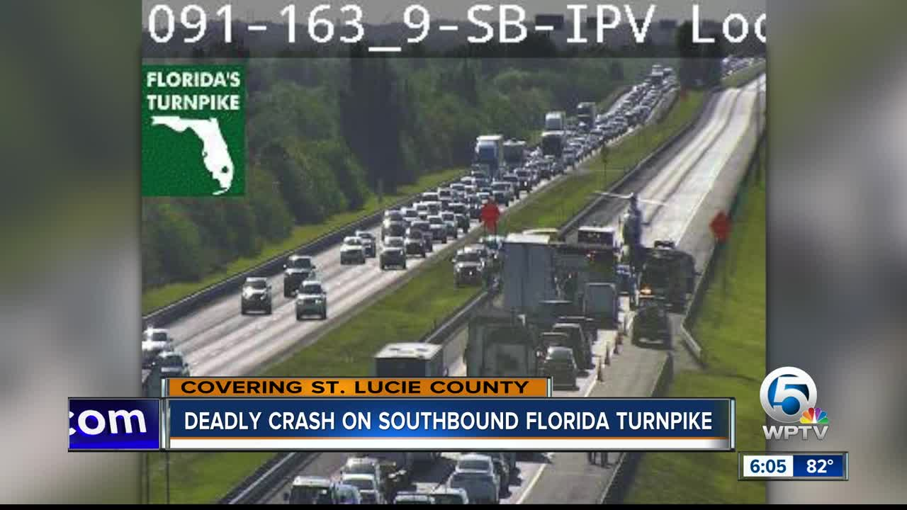 Deadly weekend crash on Turnpike in St  Lucie County