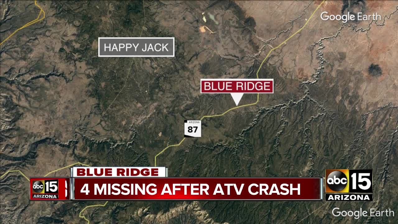 4 bodies recovered from ATV crash near Payson, sheriff's officials say
