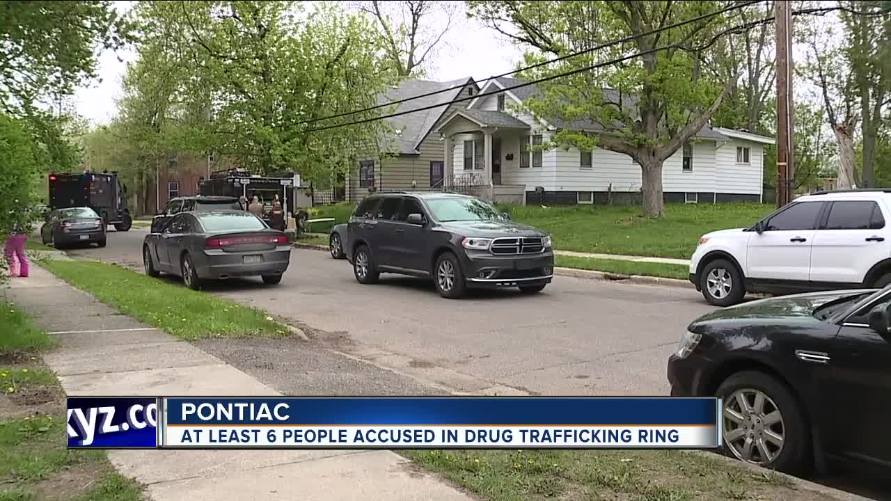 FBI conducting raids at Pontiac homes related to international drug