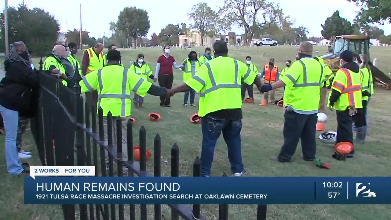 Human remains found in search for Tulsa massacre victims