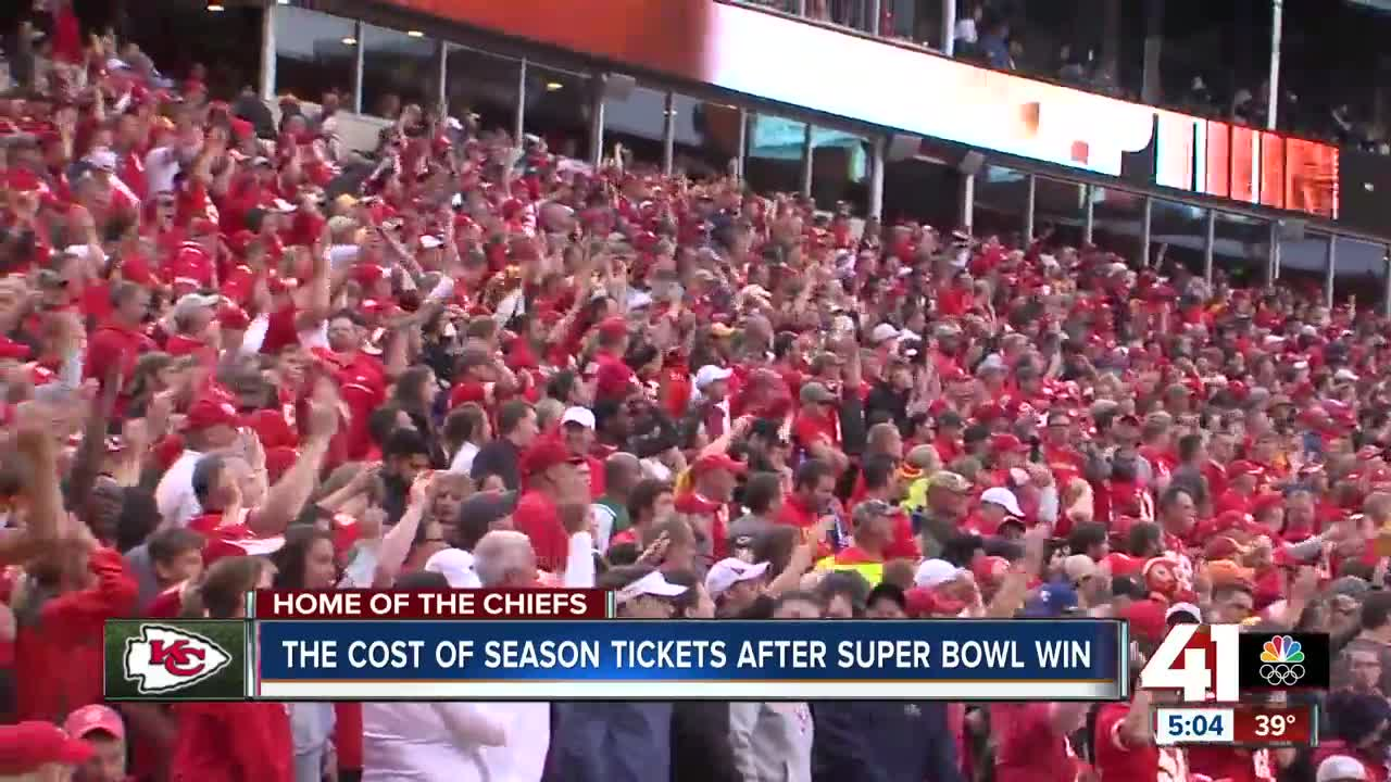 Chiefs fans accept paying more to watch Super Bowl champions in 2020