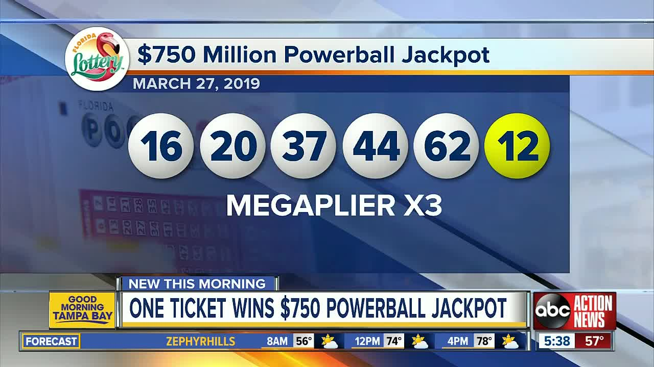 Powerball Lottery Drawing For March 27 2019 Winning Ticket Sold In Wisconsin Wins 750 Million