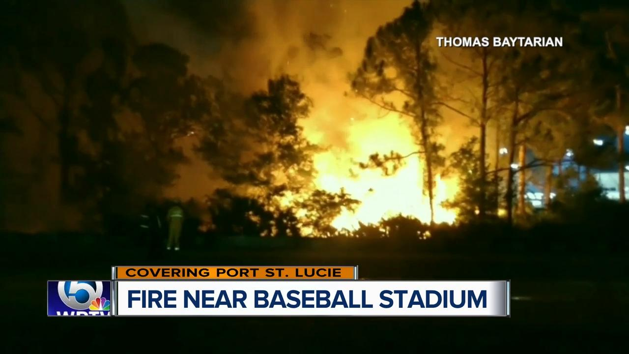 Fire occurs near First Data Field after fireworks show