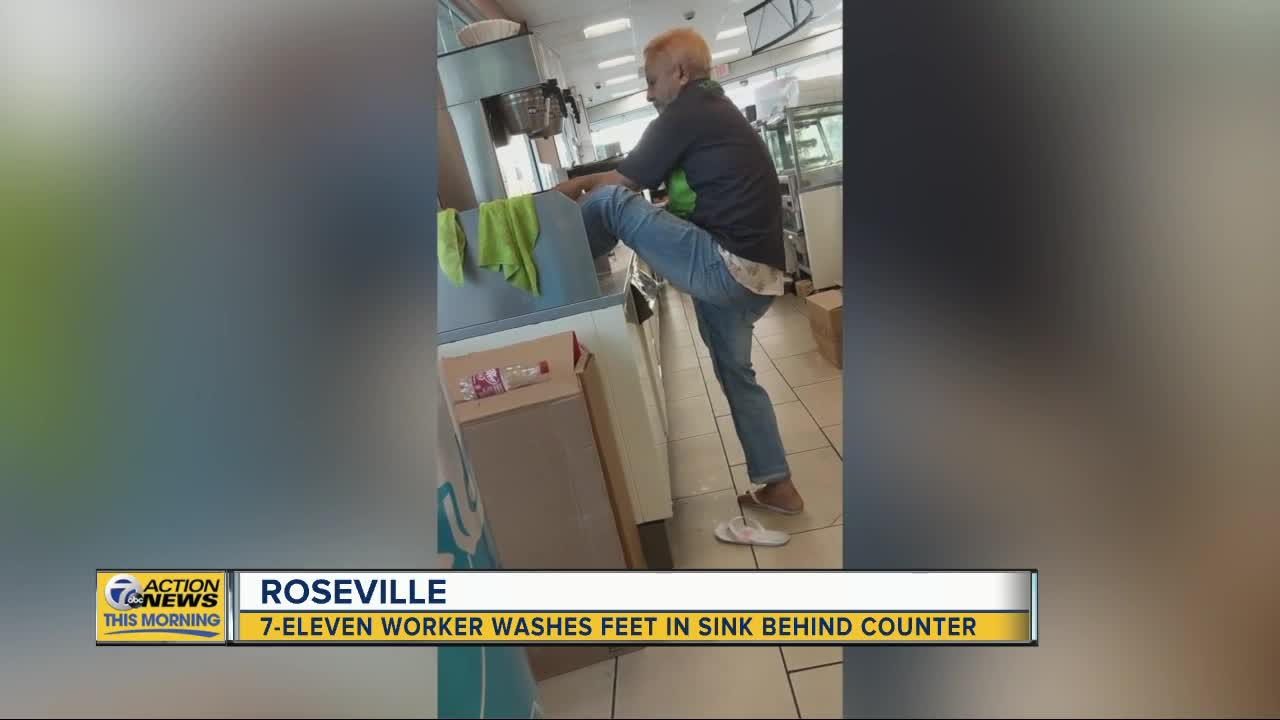 Debate sparked by 7-Eleven clerk washing feet at Roseville store