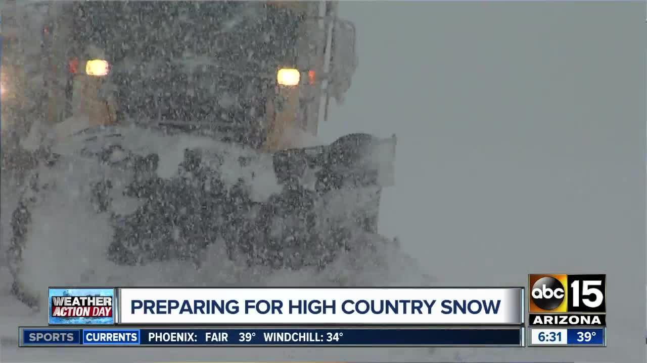 Snow And Ice Lead To Winter Weather Warnings Slick Road Conditions Around Arizona