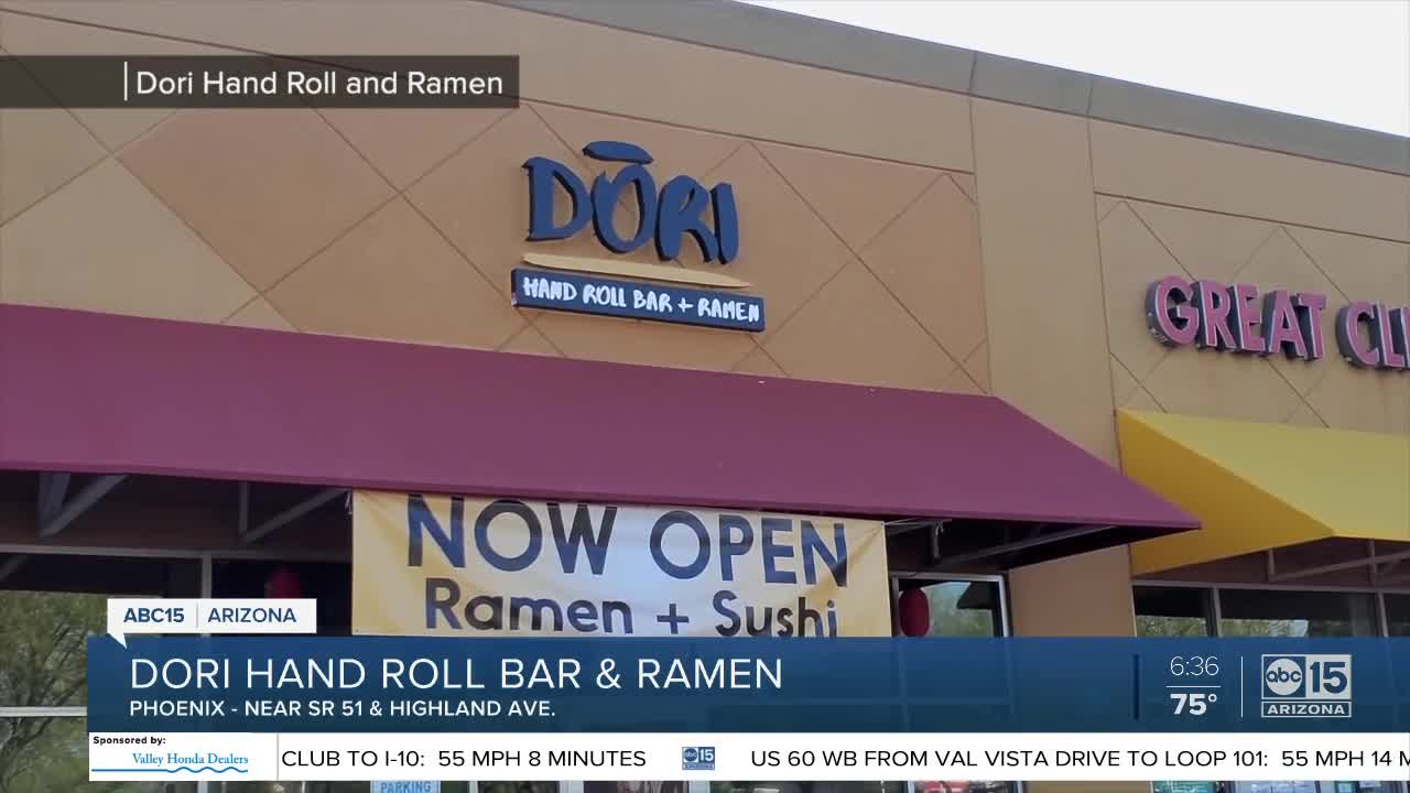 Ramen And Sushi Check Out Dori Hand Roll Bar Ramen Now Open In Phoenix