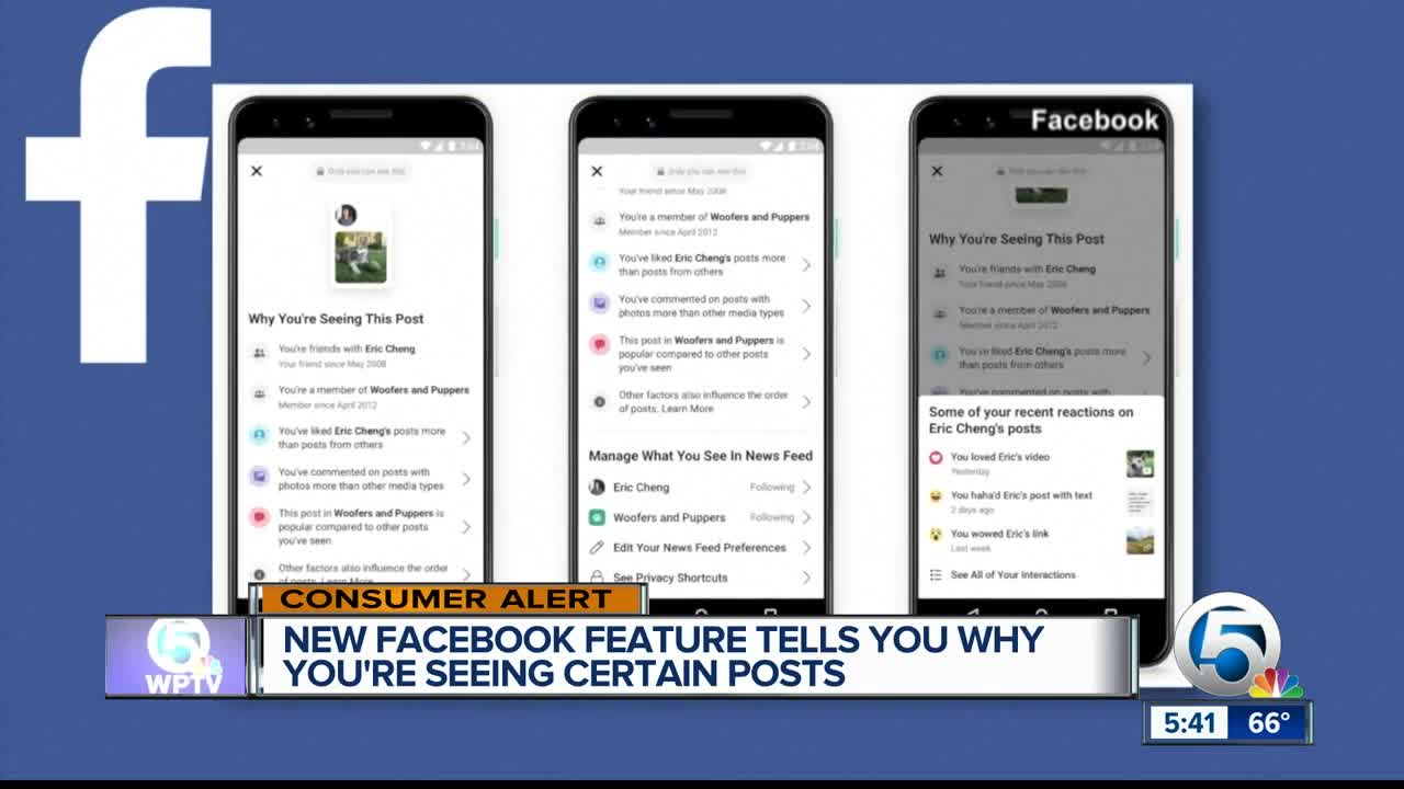 Facebook now explains better why you're seeing some posts and ads