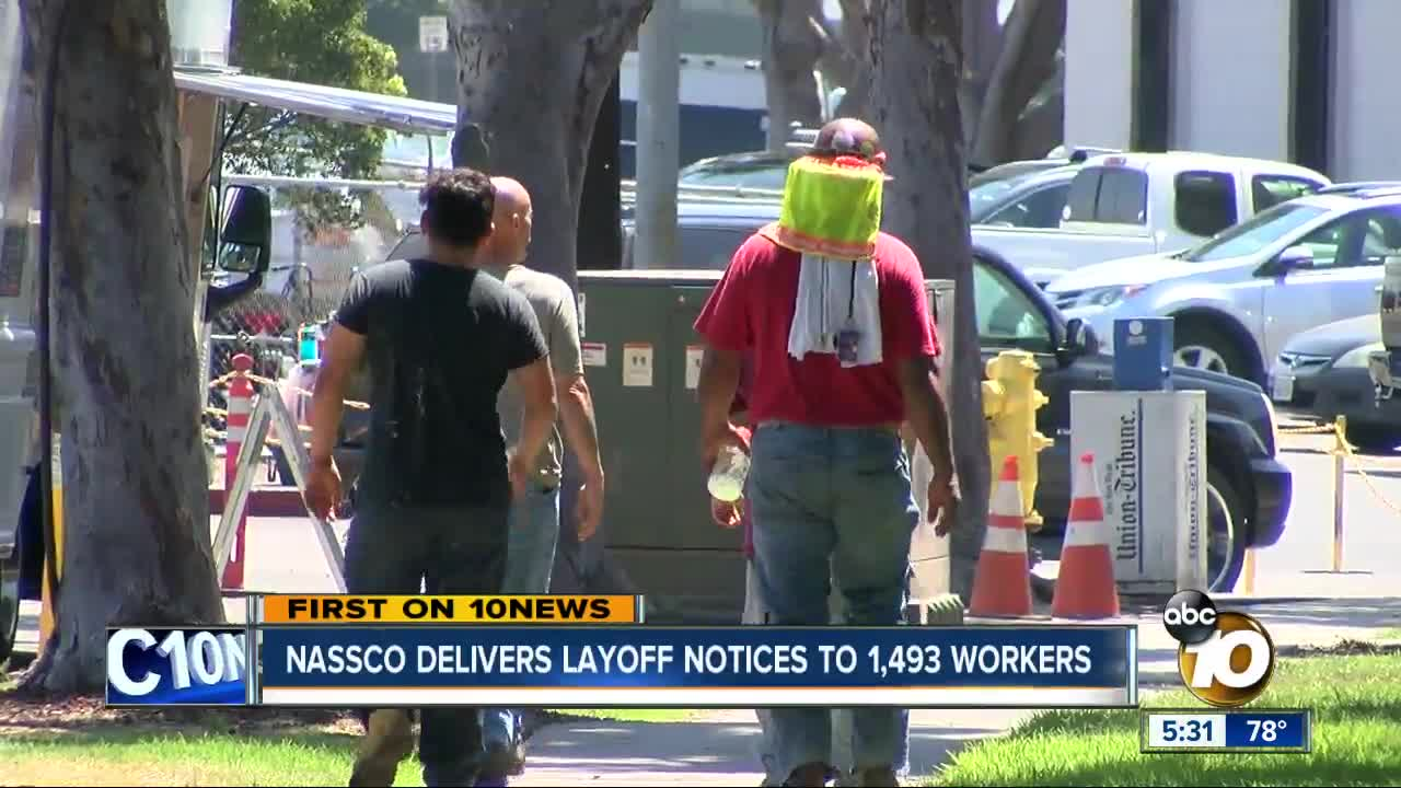 NASSCO delivers layoff notices to 1,500 workers
