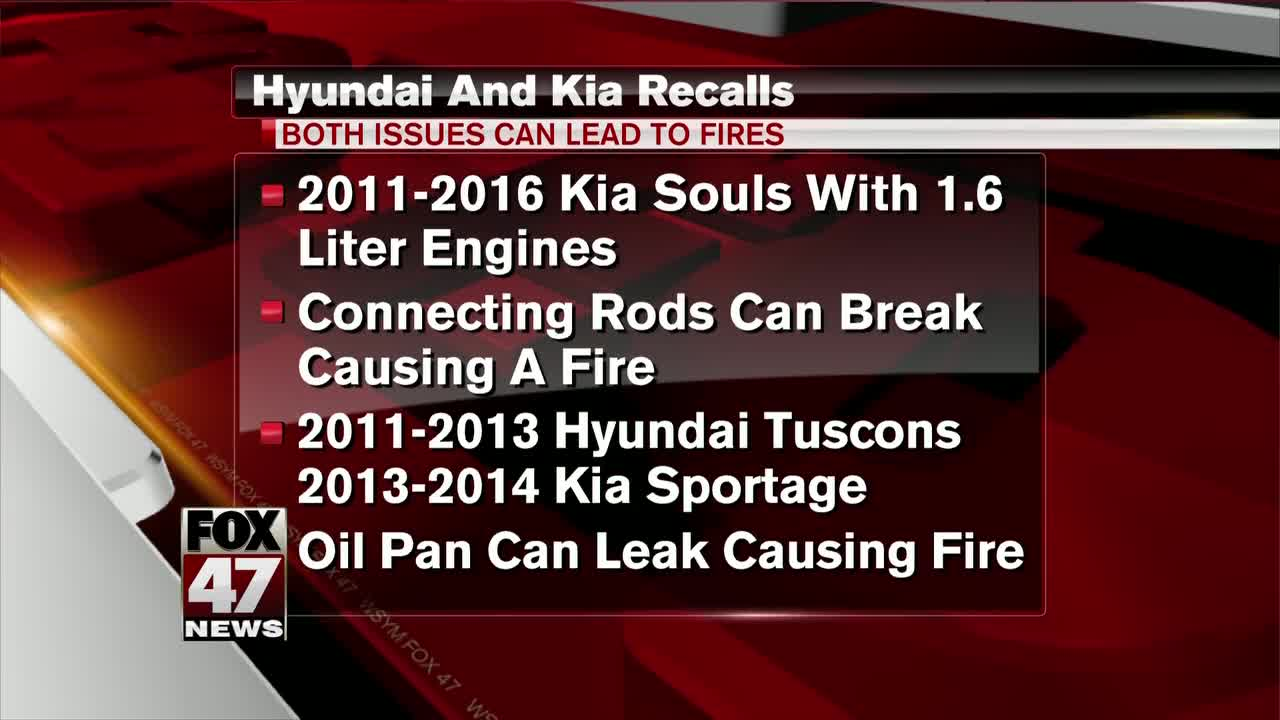 Kia, Hyundai expand USA engine fire recalls by 534000 vehicles