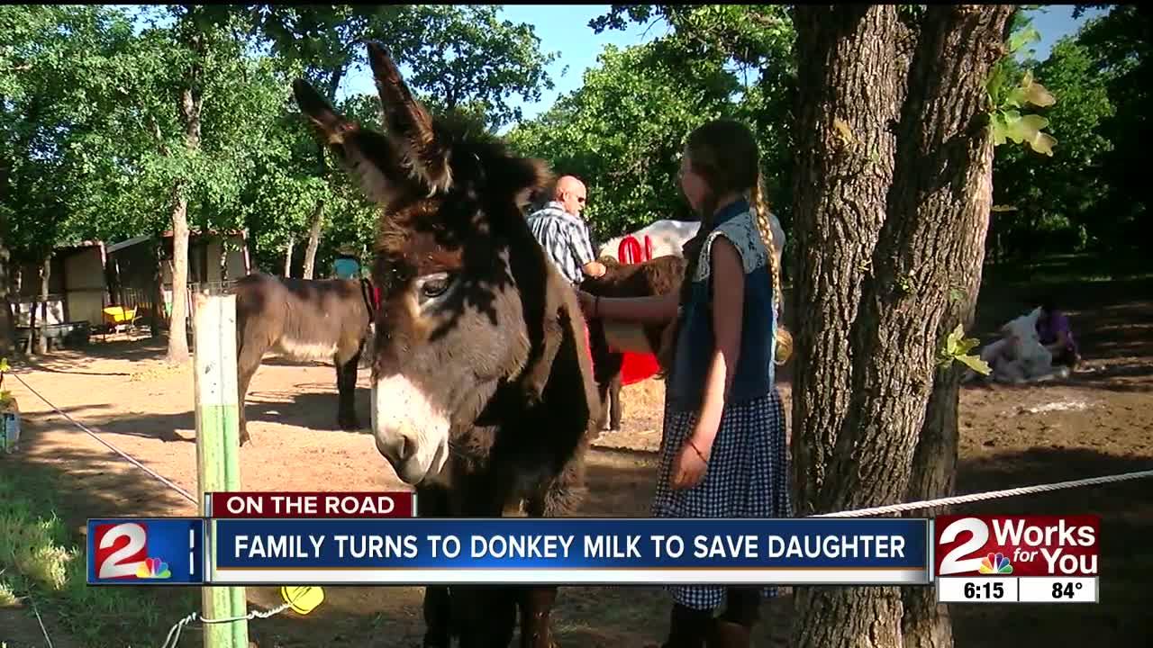 Oklahoma farmers say donkey milk has added health benefits