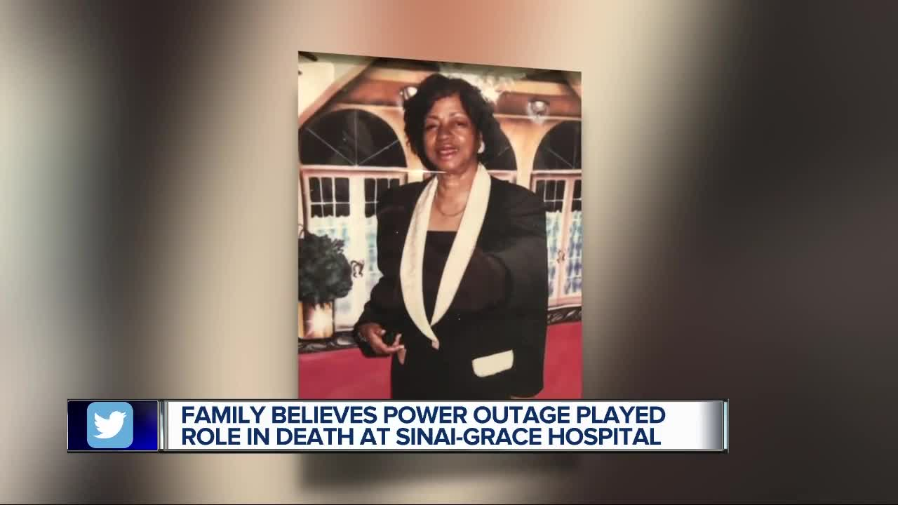 Family says power outage at Sinai-Grace played role in woman's death