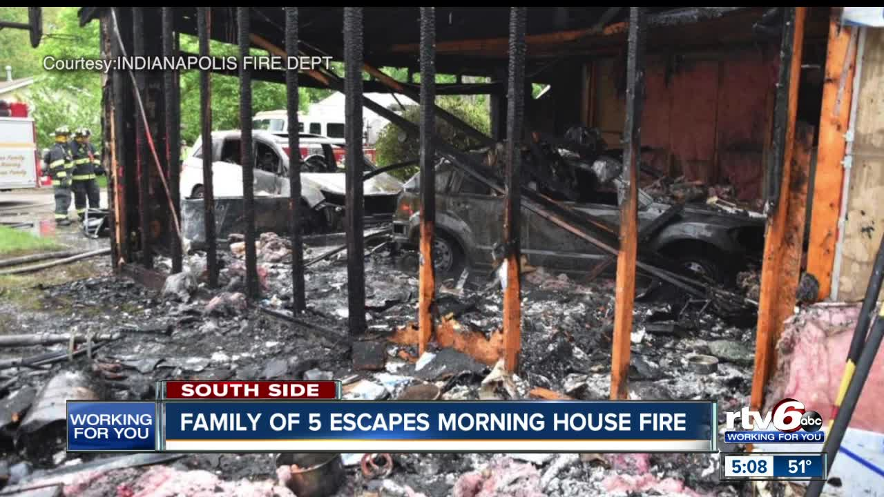 Family of five escapes morning house fire in Marion County