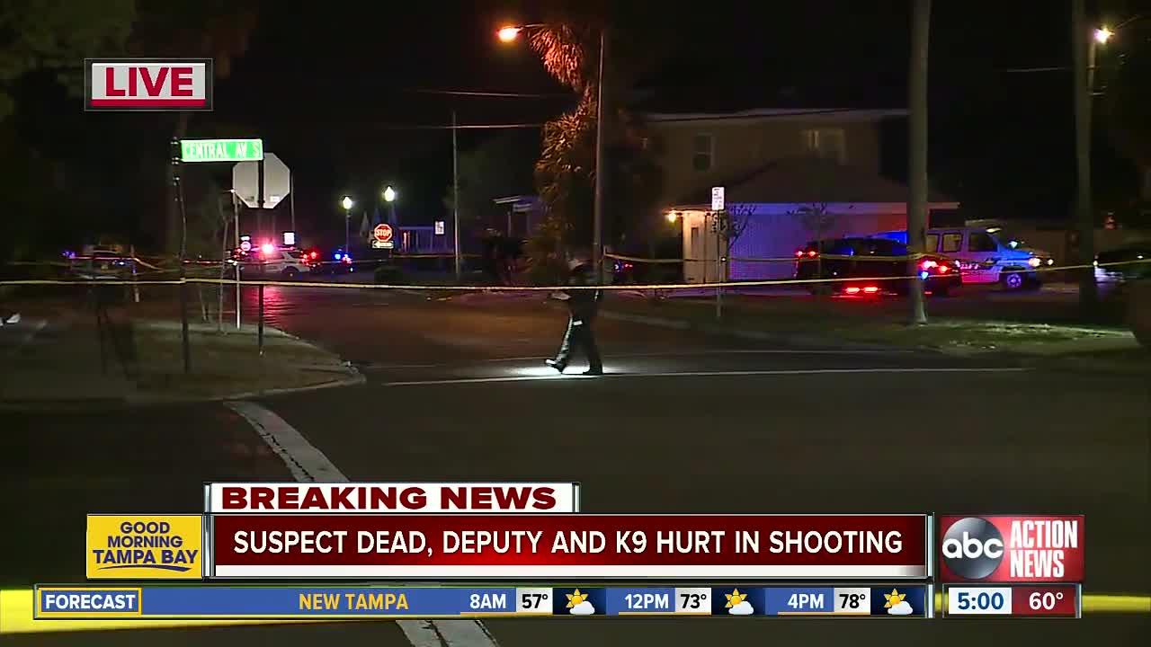 Deputy, police K-9 shot during officer-involved shooting in