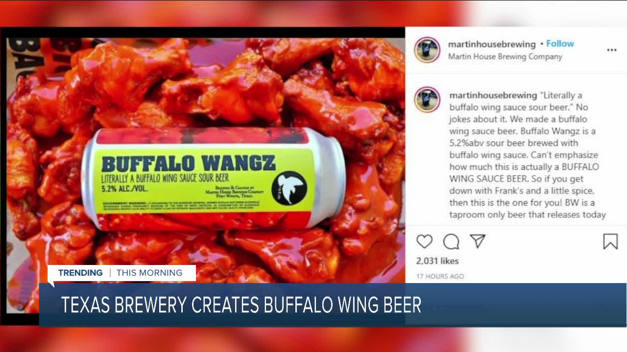 Would you try Buffalo wing...beer? Texas brewery creates 'Buffalo wing  sauce sour beer'