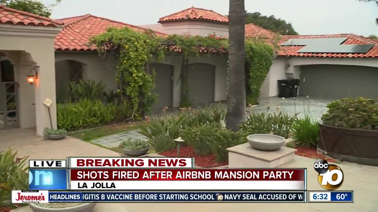 Gunfire Reported During Party At La Jolla Mansion