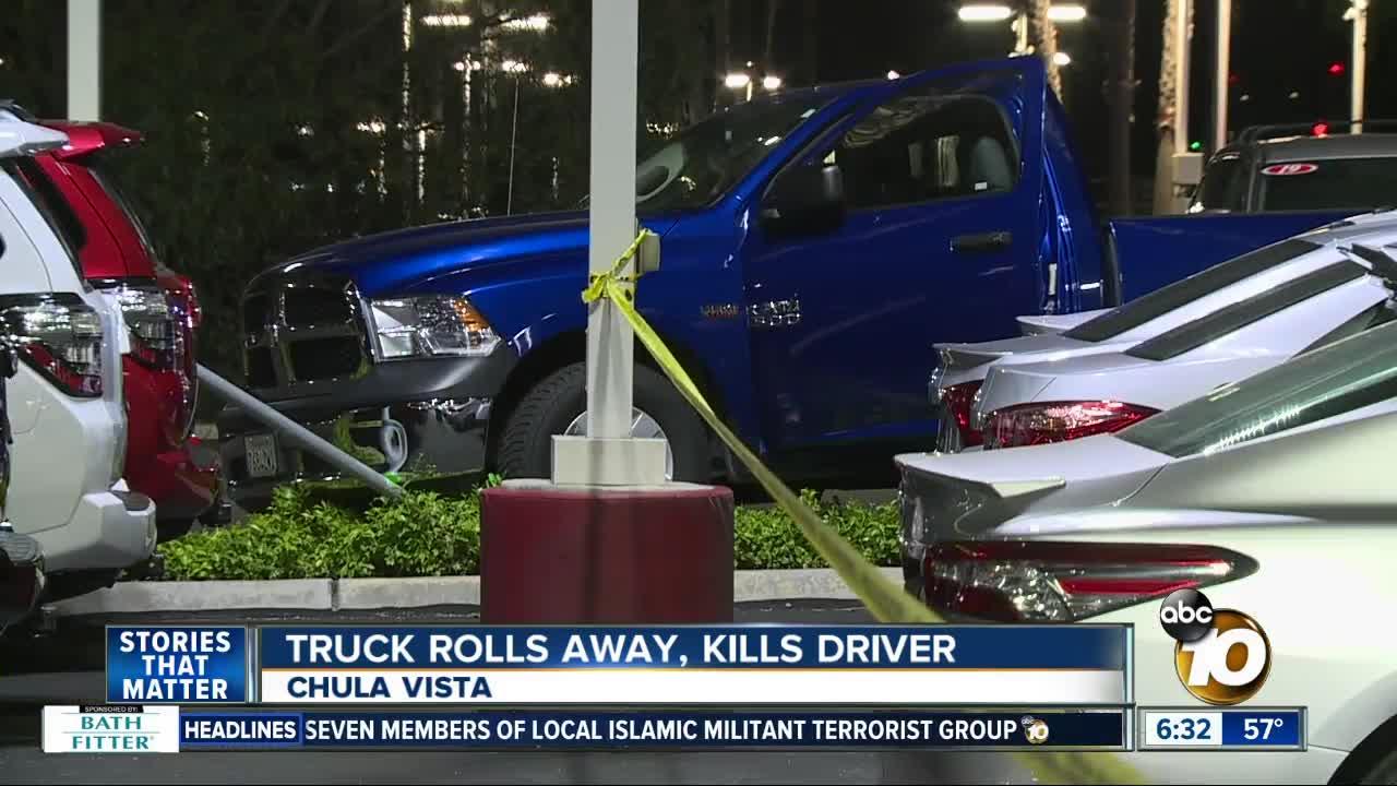 Dodge Dealership San Diego >> Truck rolls away, runs over and kills driver at Toyota of Chula Vista dealership