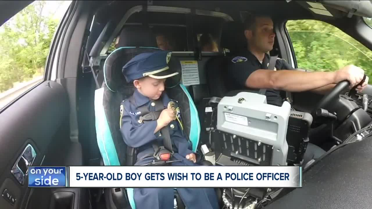 5-year-old boy with mystery illness becomes officer for a day