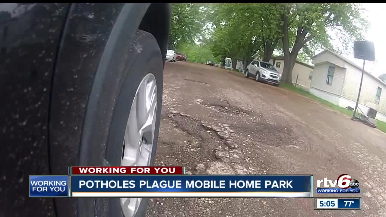 Potholes plague Mooresville mobile home park despite rising rent