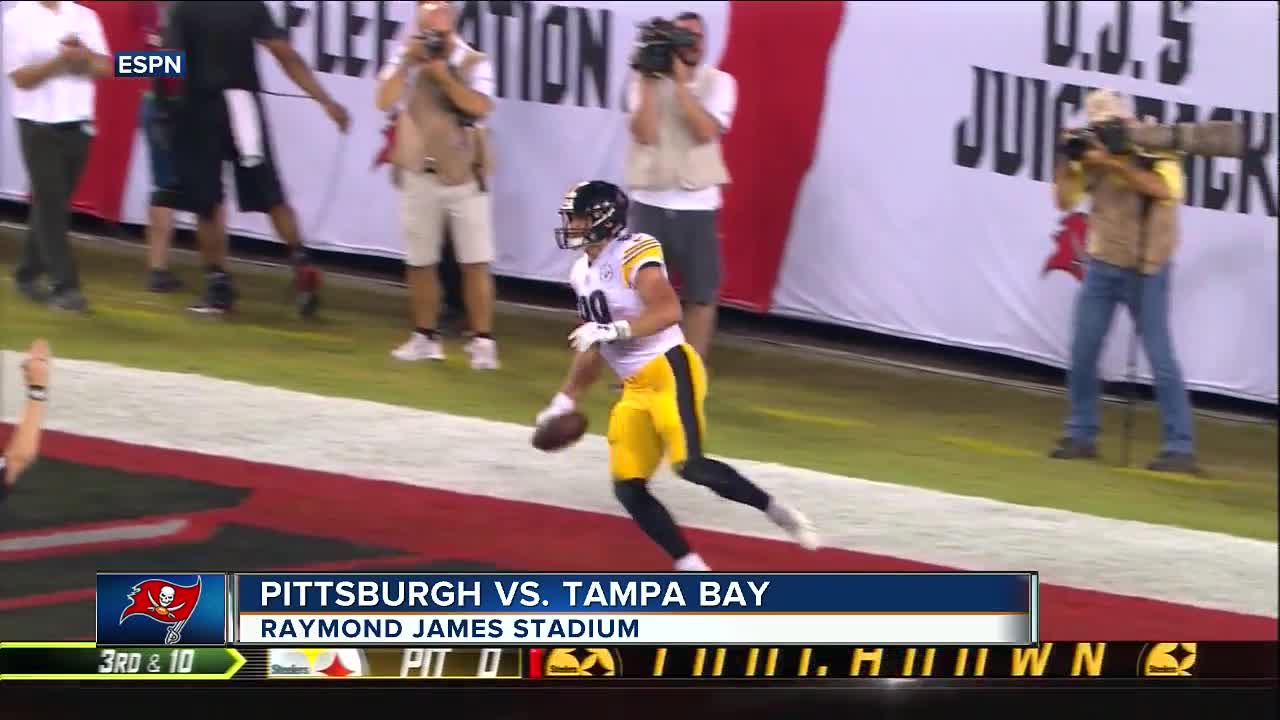 50b991ec3ea ... media with a 30-27 victory over the Tampa Bay Buccaneers on Monday  night. The Steelers (1-1-1) built a 20-point lead held on for their first  win despite ...