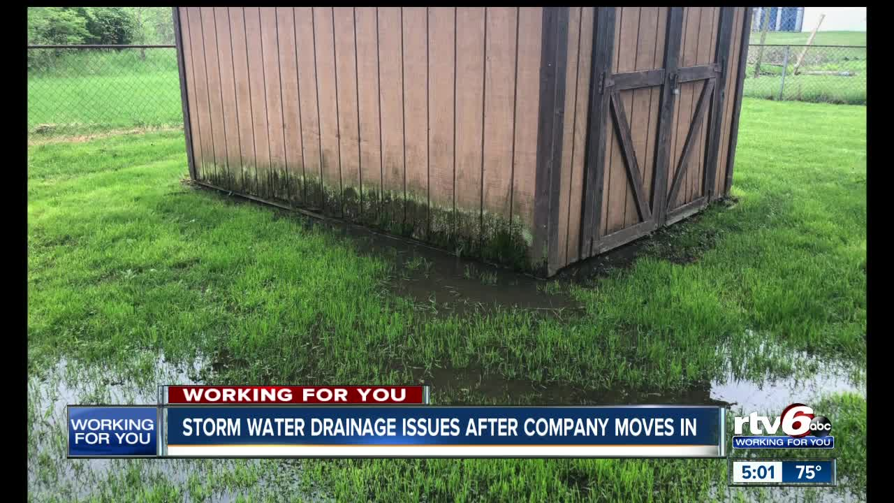 Storm water drainage issues start after company moves into