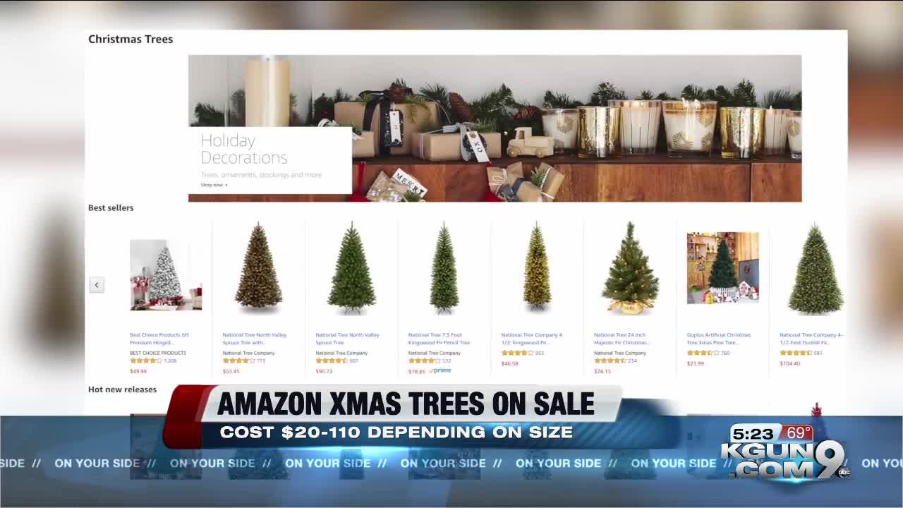Fresh-cut Christmas trees available now on Amazon