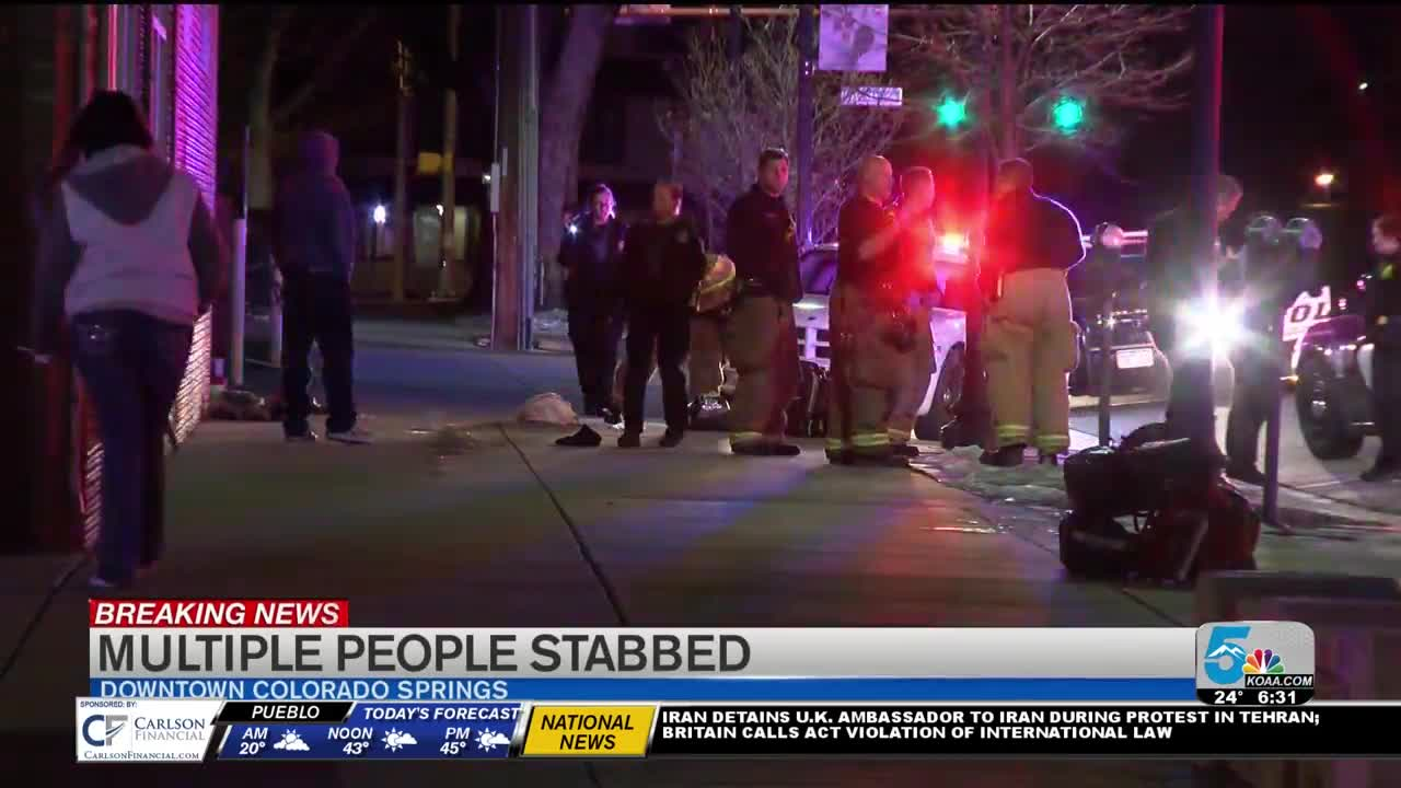 8 wounded in Colorado Springs stabbing spree