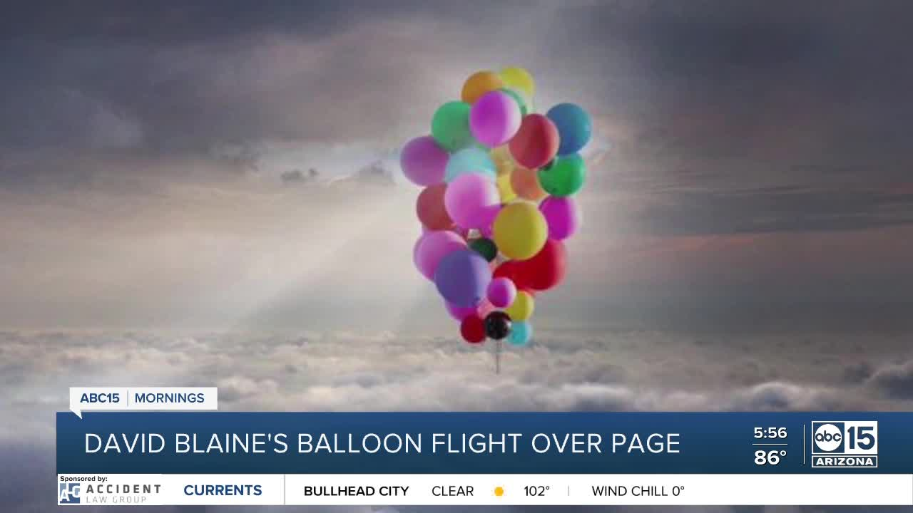 David Blaine pulls off high-flying balloon stunt