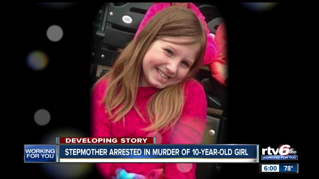Stepmother arrested after IN  girl found dead IN  trash bag