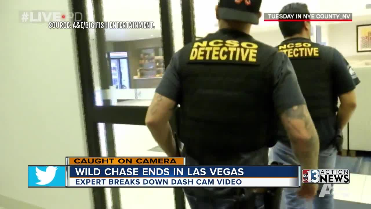 Wild police chase caught on camera starts in Nye County