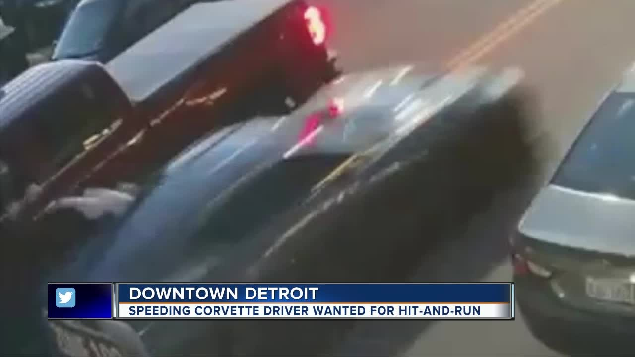 Woman Driving Corvette Wanted In Hit And Run In Downtown